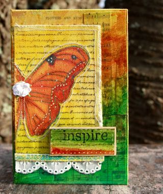 Copy of Inspire canvas altered book v2