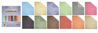 Gingham paper pad