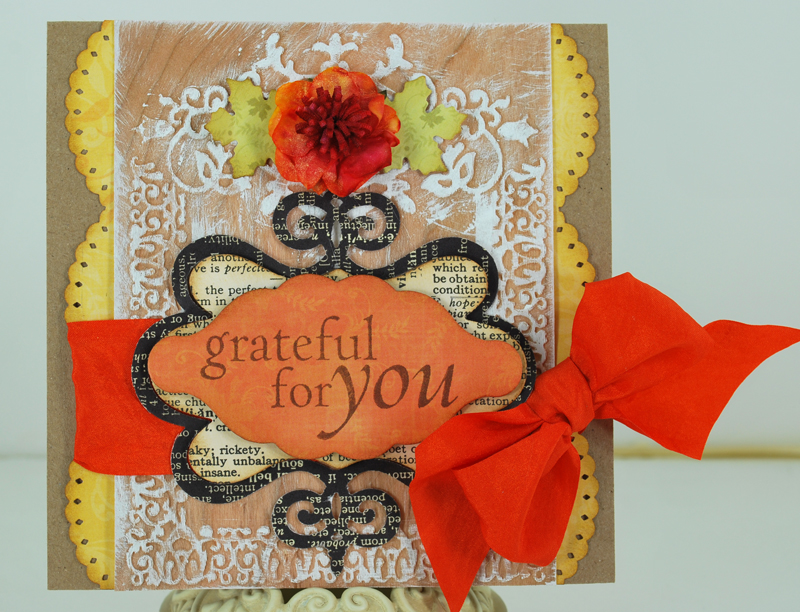 Real Wood card - Grateful for you