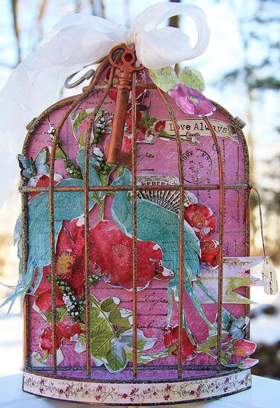 Altered Bird Cage using Cotswald Manor for CHA Winter 2013